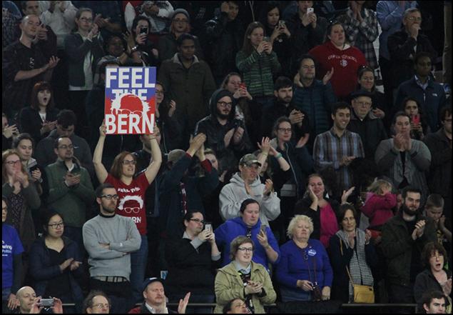 Feelin' the Bern – sights at a Sanders rally