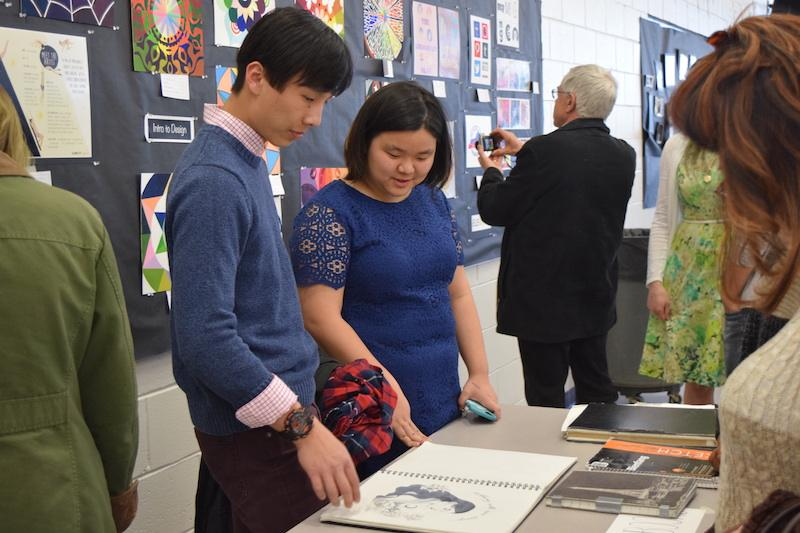 NAHS holds annual art show and induction ceremony