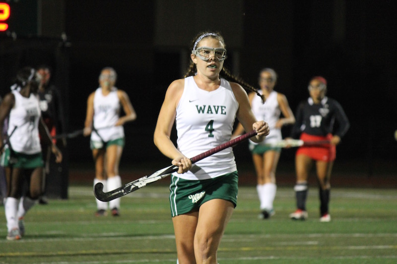 In+addition+to+playing+varsity+field+hockey%2C+senior+Riley+Mullan+of+Long+Branch+plays+lacrosse+for+the+Green+Wave.
