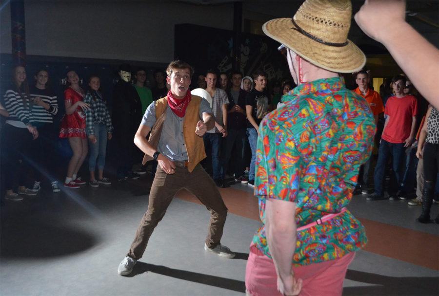 Students show off costumes at Halloween dance