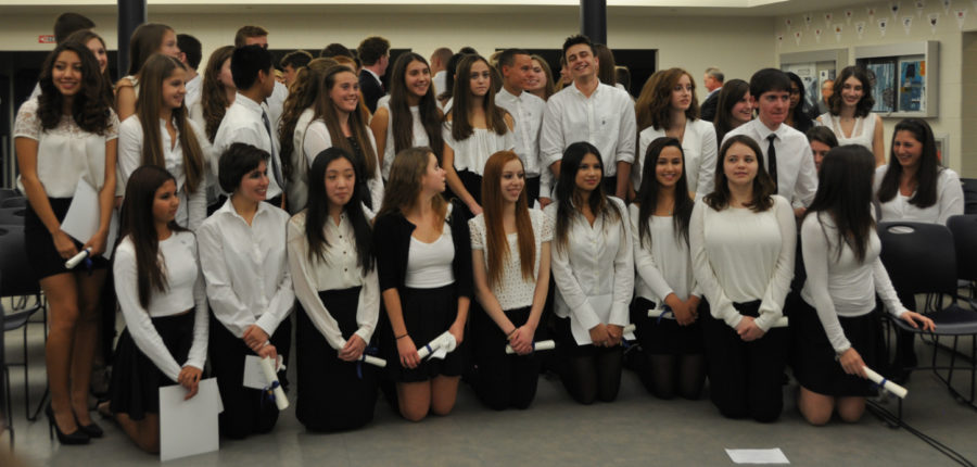 NHS and NTHS welcome new inductees