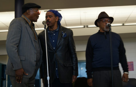 The Persuasions dazzle students at assembly