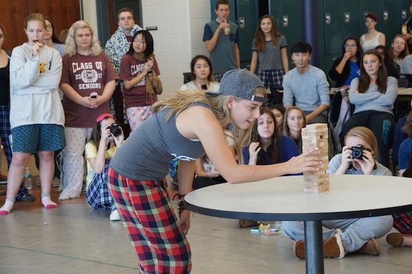 Junior Abi Karl of Monmouth beach competed in the jenga competition.
