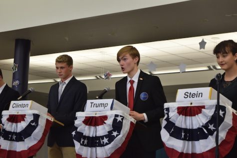 Students participated in the CHS Mock Election Debate.