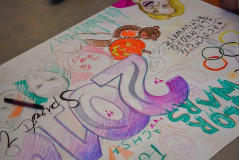 Students participate in art challenge on fancy day