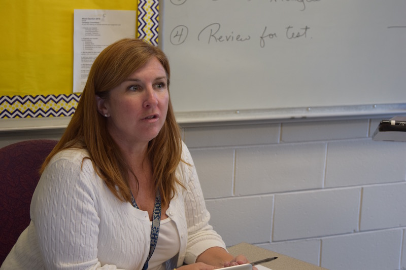 Justine Lane, math teacher, is one of the members of the CHS faculty that teach the same students year after year.