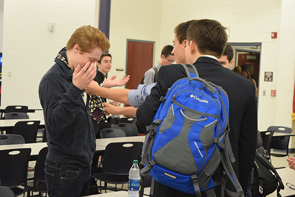 Students did whatever it took to be counted as dressed up for the day, including placing ties, pearls, sweaters and other fancy items upon friends for participation points on Fancy Day.