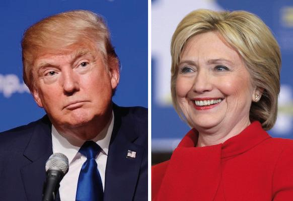 Donald Trump and Hillary Clinton faced off on Nov.8, with Trump being elected President.