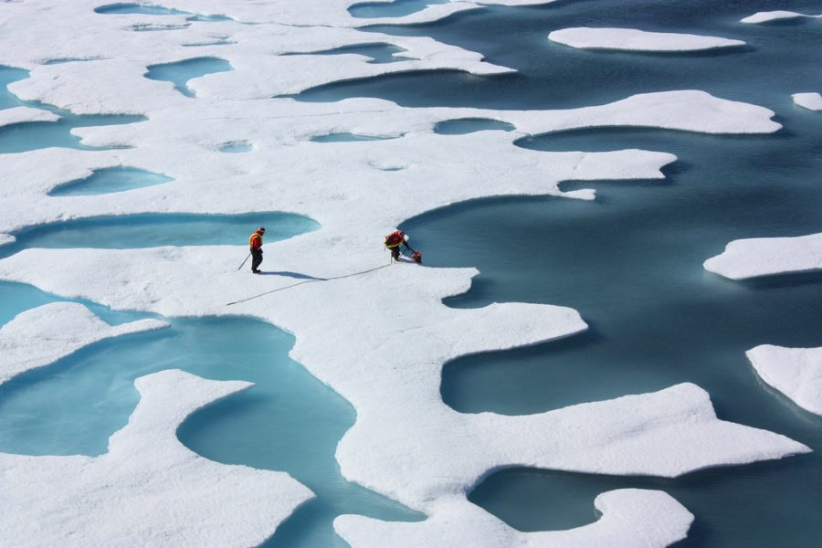 Polar ice caps are affected by Earth's increasing temperatures.