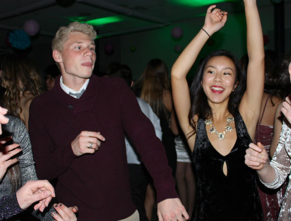 Seniors Matt Miller of Wall and Allie Kuo of Tinton Falls dance to