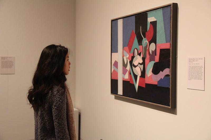 NAHS member Allie Kuo admires a painting at the Met in New York City.