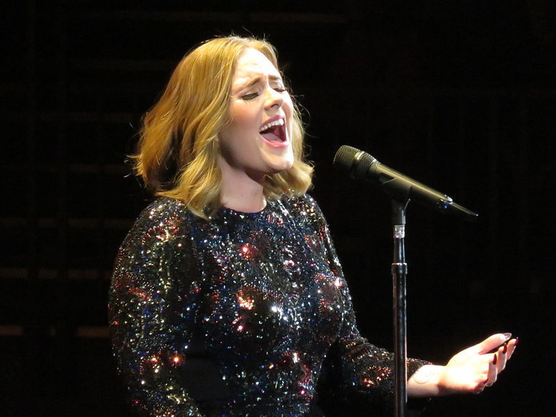 Adele is nominated for her album 25.
