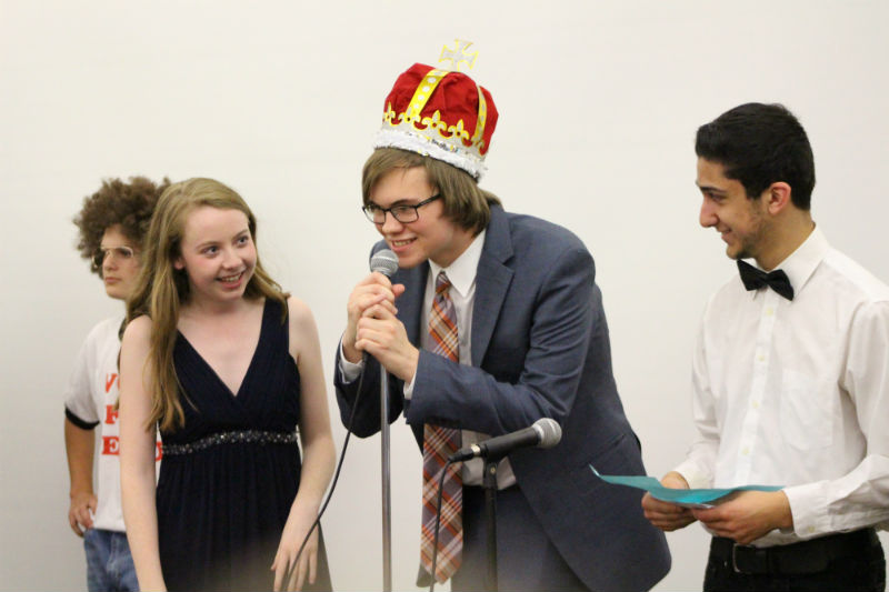 At the end of Friday night senior Kevin Meberg of Wall is crowned Mr. CHS, securing the seniors in first place for Spring Spirit Week.