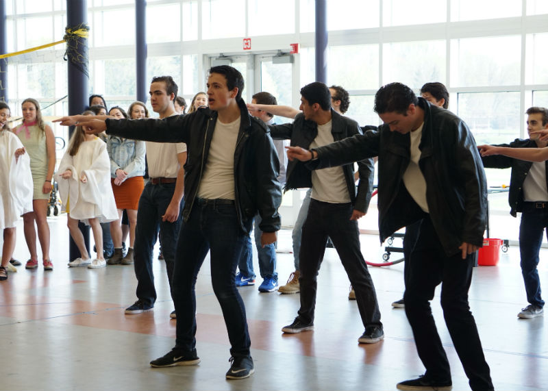 The seniors placed first on Friday's competition, lip syncing to their Grease themed mashup.