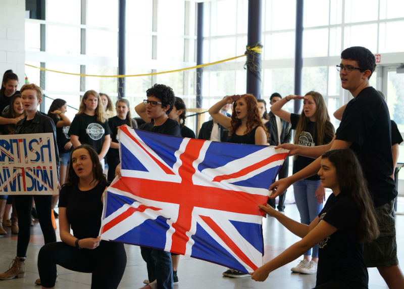 """The Class of 2020 begins their British Invasion themed lip sync with """"God Save the Queen"""" and transitions to more popular hits such as Adele's """"Hello."""""""