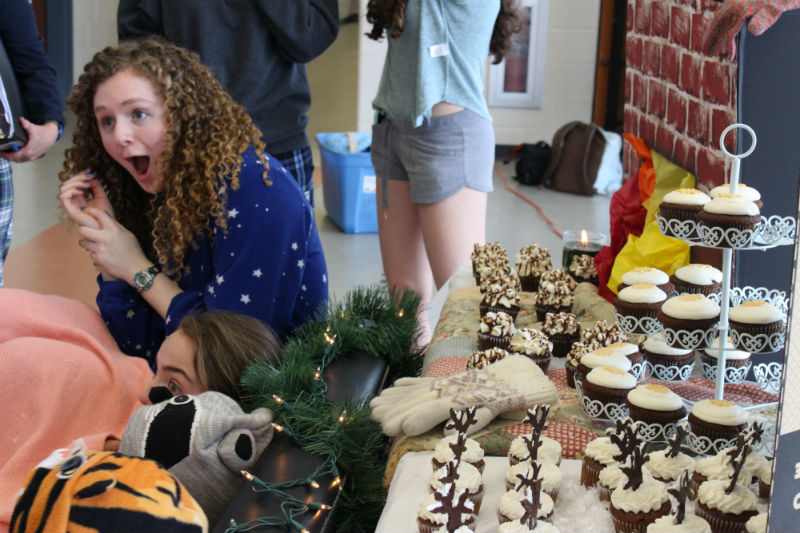 The senior class took first place in Cupcake Wars to kick off the week, with a snow day in winter themed display.