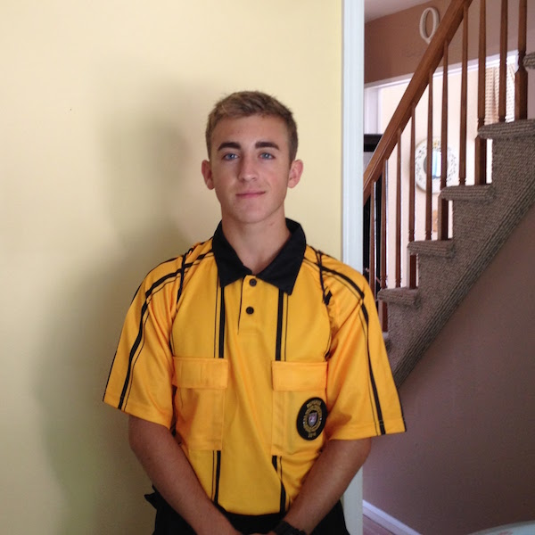 Anthony Quattrocchi of Matawan began to referee eighth grade soccer two years ago.