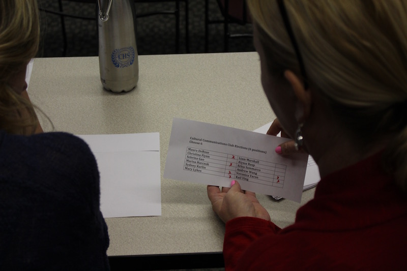Each ballot had to be counted at the Cultural Communications Club election on Tuesday.