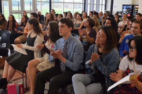 The Class of 2018 listened to speeches from ten candidates for class council on Monday.