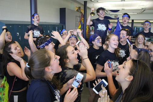 It was the navy team that took first place overall and celebrated their win. Second place went to the white team and third place was awarded to the purple team.
