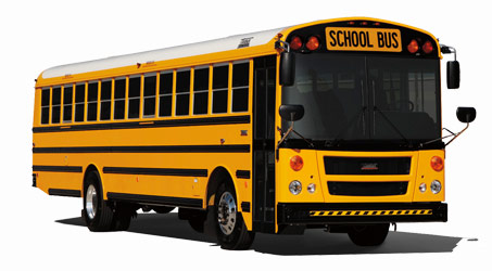 Many students use school busses as their mode of transportation to school.