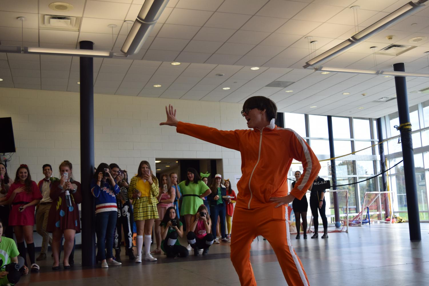 Students participated in the annual Halloween costume parade during lunch and activity period.