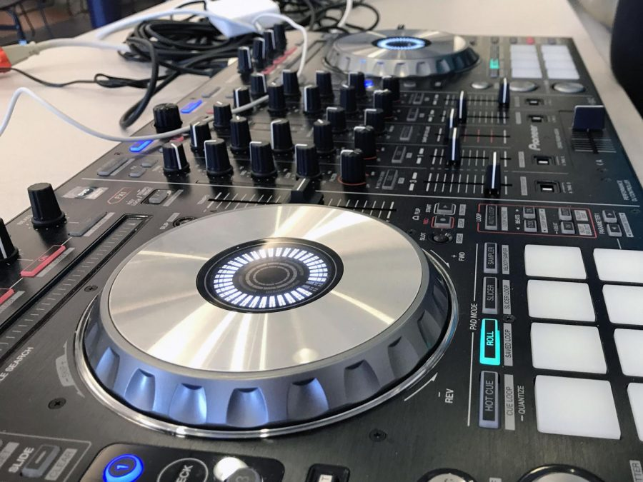 The tables turned and music blared today during DJ Friday, a weekly tradition that takes place in the cafeteria at CHS. The hosts of today's mini music festival was junior Caroline Monaghan of Middletown and senior Julianne Sackett of Rumson.