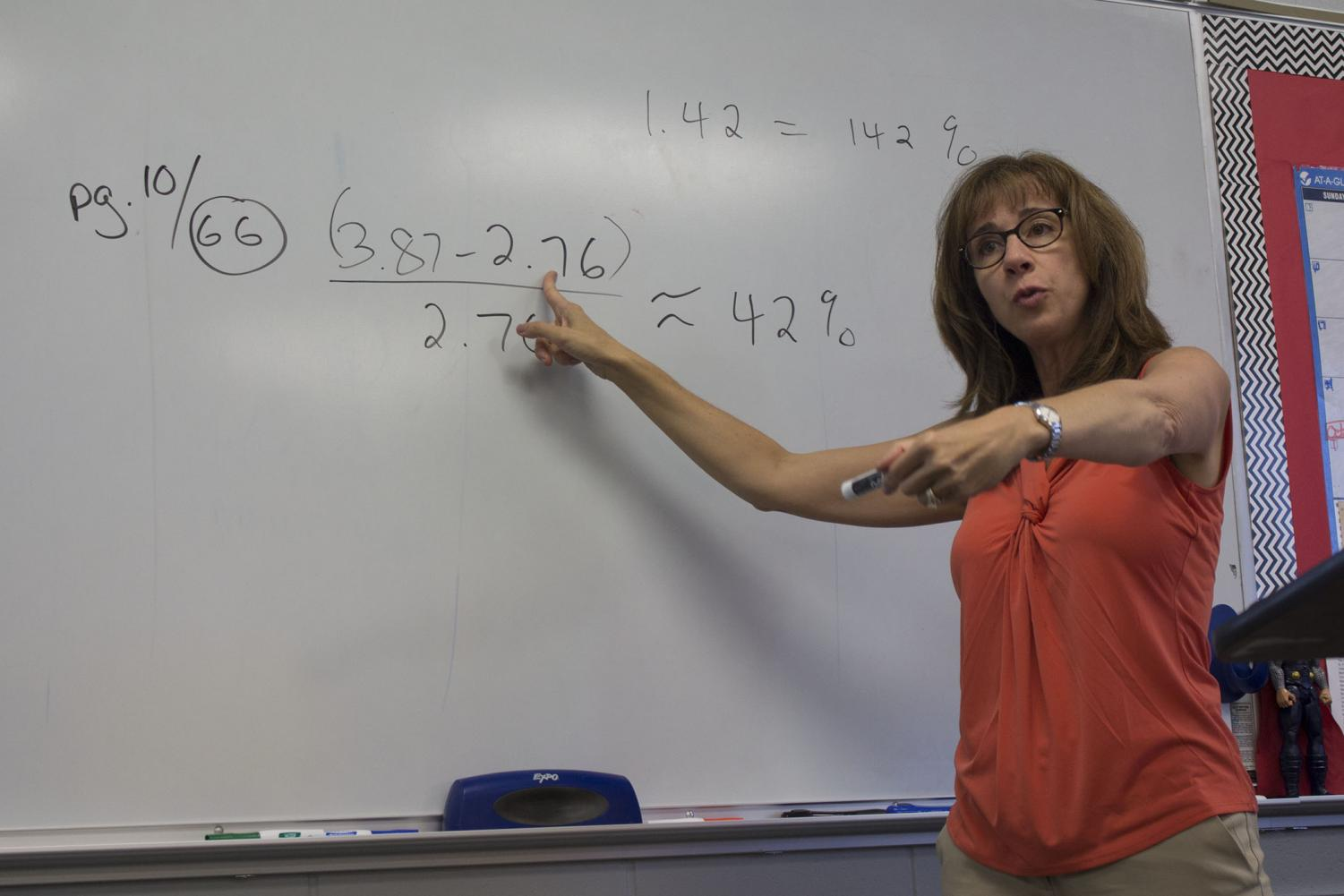 Math teacher Cheryl Vetser taught at four other schools before CHS, including the Allied Academy of Health and Science and Brookdale Community College.