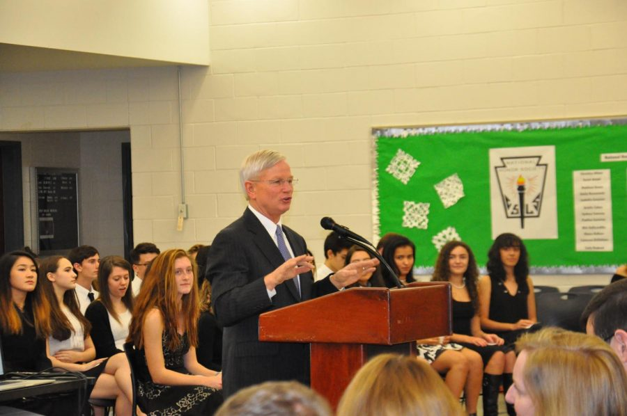 Students who make it through the application process, are initiated at the NHS induction.