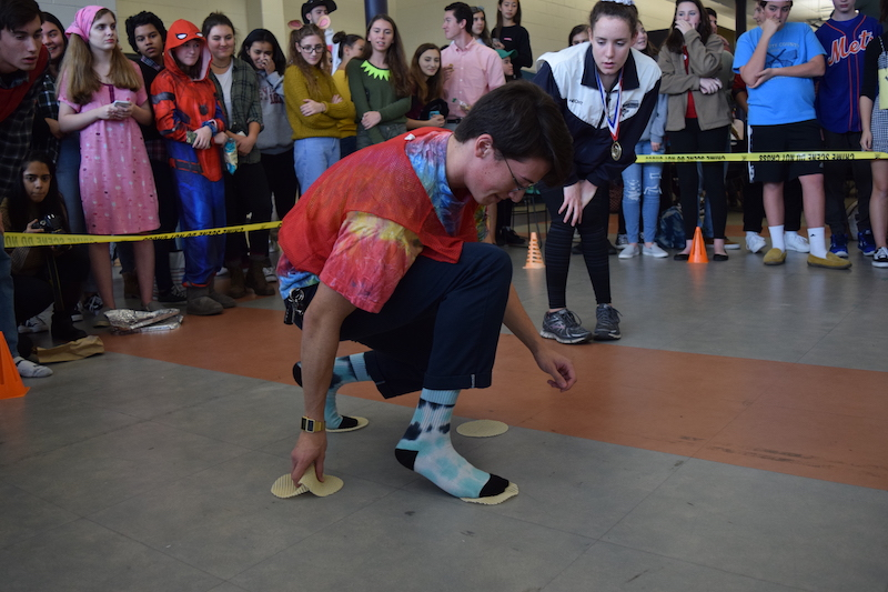 Students participate in The Floor Is Lava a new event at CHS.