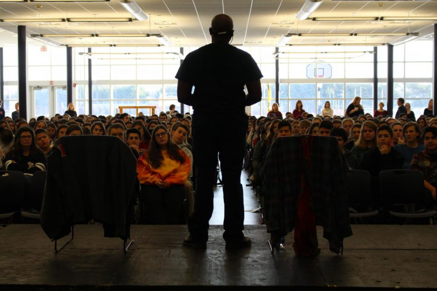 Mykee Fowlin, a motivational speaker, spoke to CHS students about diversity, equality and mental illness on Dec. 11.