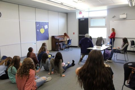 Musical Mindful Mondays serenade CHS