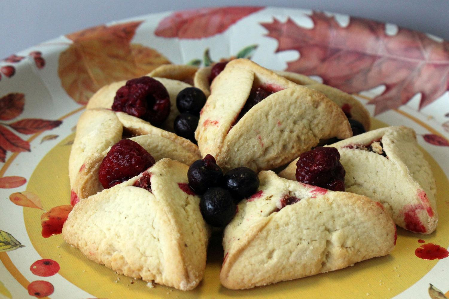 Berry filled Hamantaschen