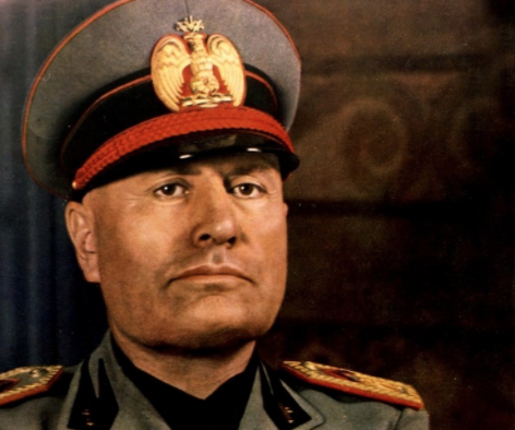 "Benito Mussolini was one of the men that worked on an essay titled ""The Doctrine of Fascism."""