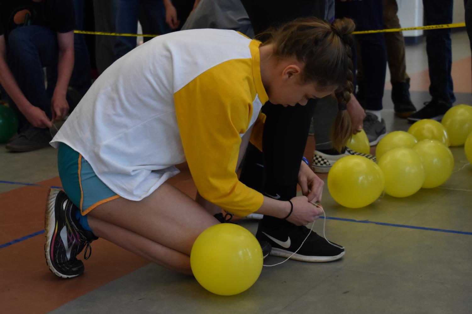 The day's lunchtime competition was Balloon Pop. The seniors placed first in the event, winning 20 points for their class.
