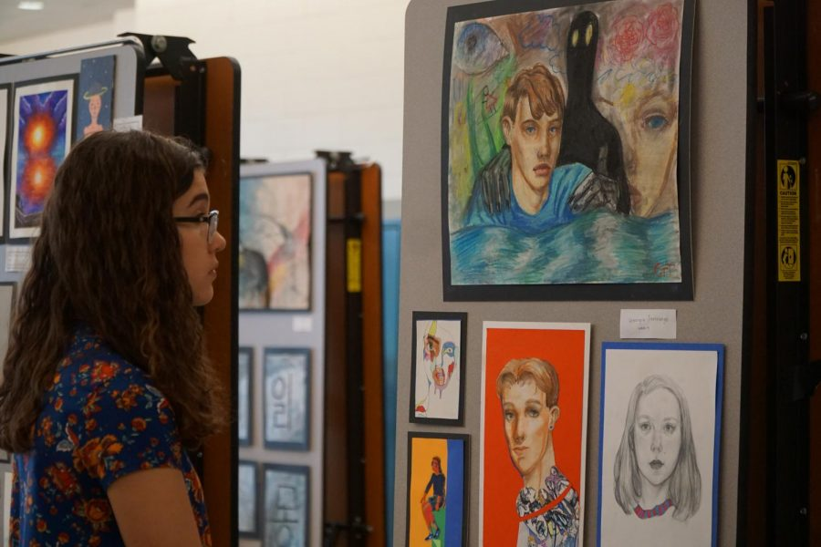 NAHS inducts new members, puts on annual art show