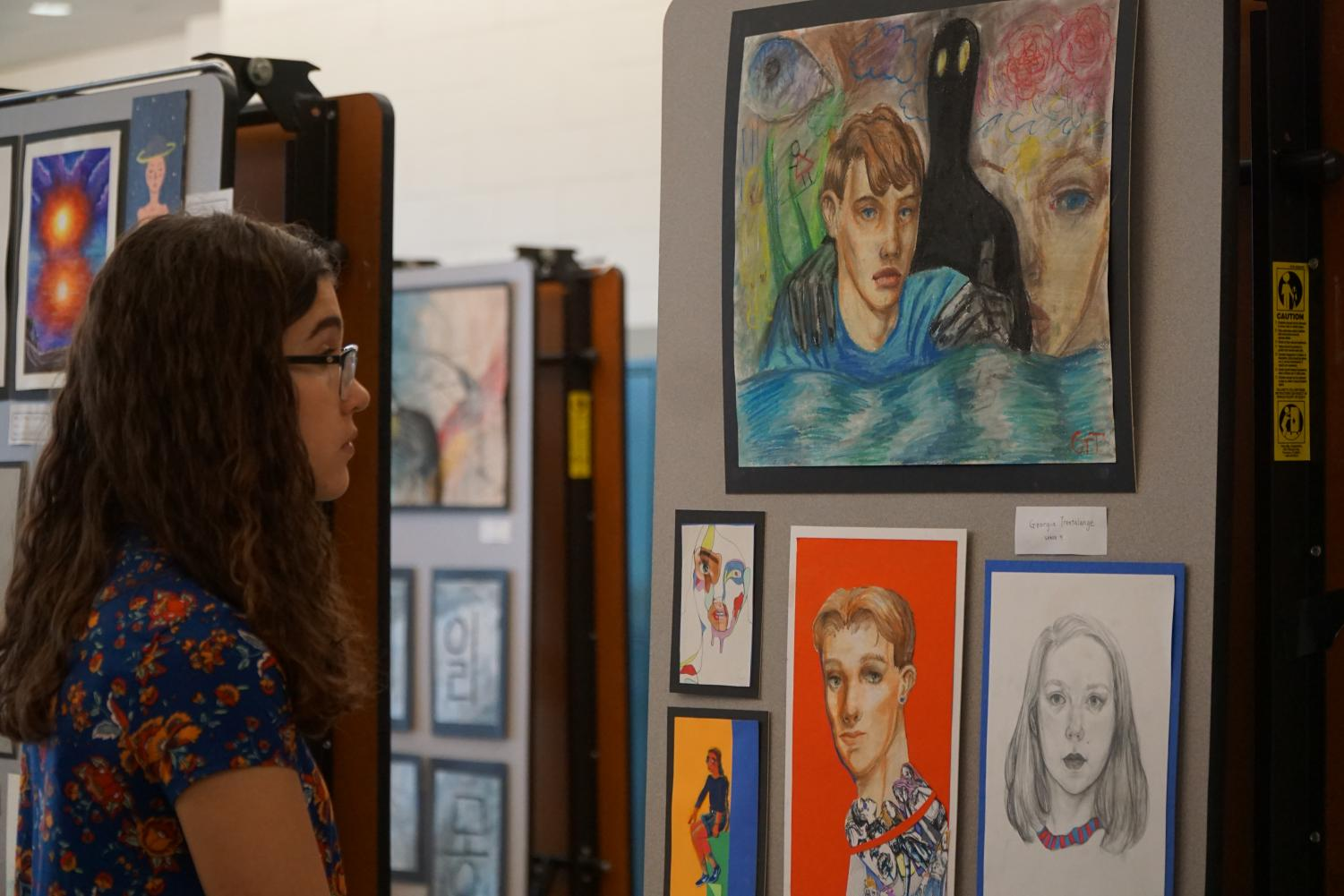 NAHS members and other students had their work displayed at the annual art show.
