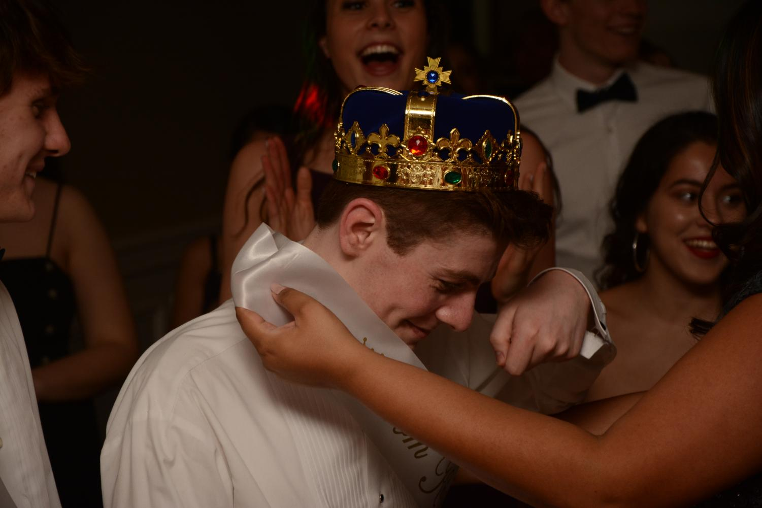 Senior Dylan Josephson of Lincroft is crowned 2018 Prom King. Josephson won this title alongside senior and Prom Queen Jackie Geller of Manalapan.