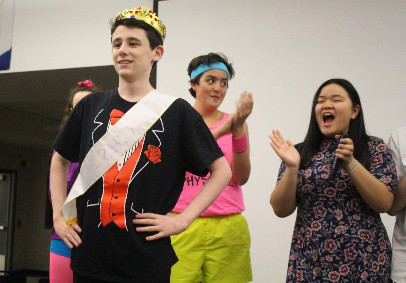 Freshman Jake Polvino of Tinton Falls was crowned Mr. CHS, earning 75 Spring Spirit Week points for his class.