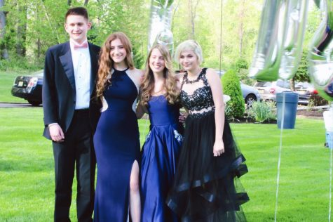 Radio Club council, from left, Michael Topper of Ocean, Cailey Ruderman of Marlboro, Kaitlyn Hammond of Wall and Amanda Lavery of Marlboro pose at CHS prom.