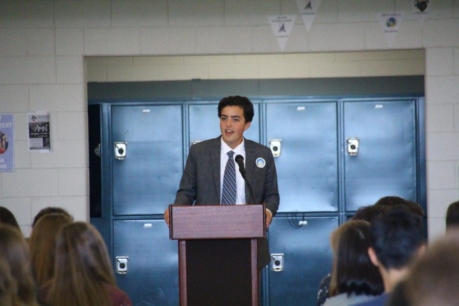 SGA+Executive+candidate+Liam+Marshall+of+Sea+Girt+gives+his+speech.