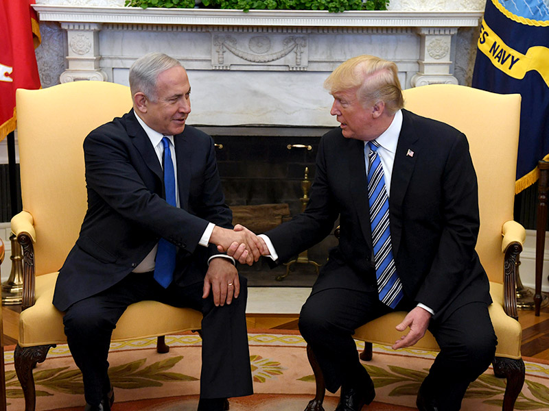 Israeli+Prime+Minister+Netanyahu+with+President+Trump+in+Washington%2C+D.C.+in+March+2018.