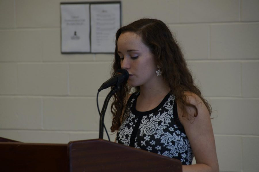 After+giving+her+speech+for+freshman+council+three+years+ago%2C+current+senior+Emma+Hecht+of+Wall+was+elected+to+a+position.
