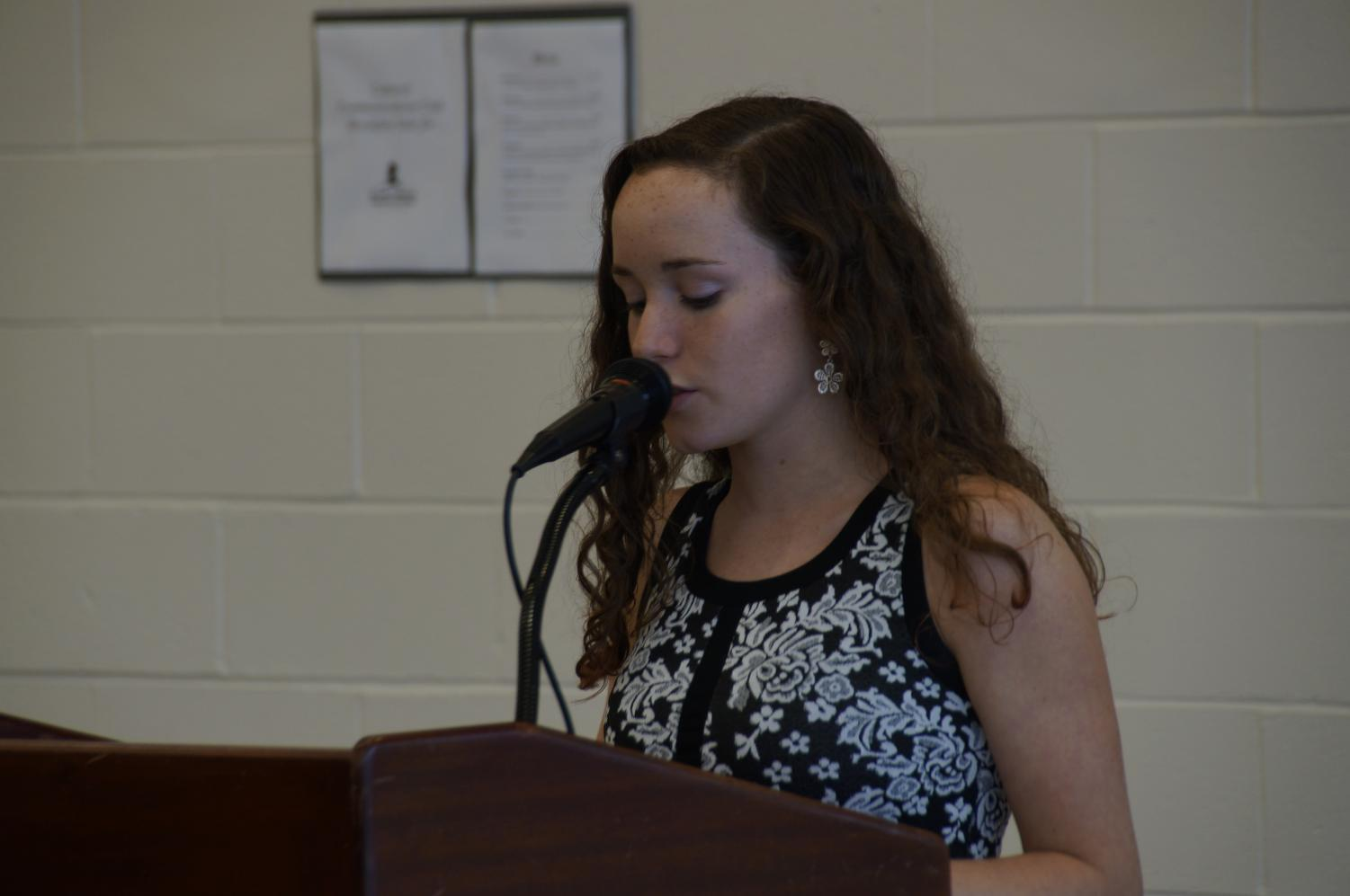 After giving her speech for freshman council three years ago, current senior Emma Hecht of Wall was elected to a position.