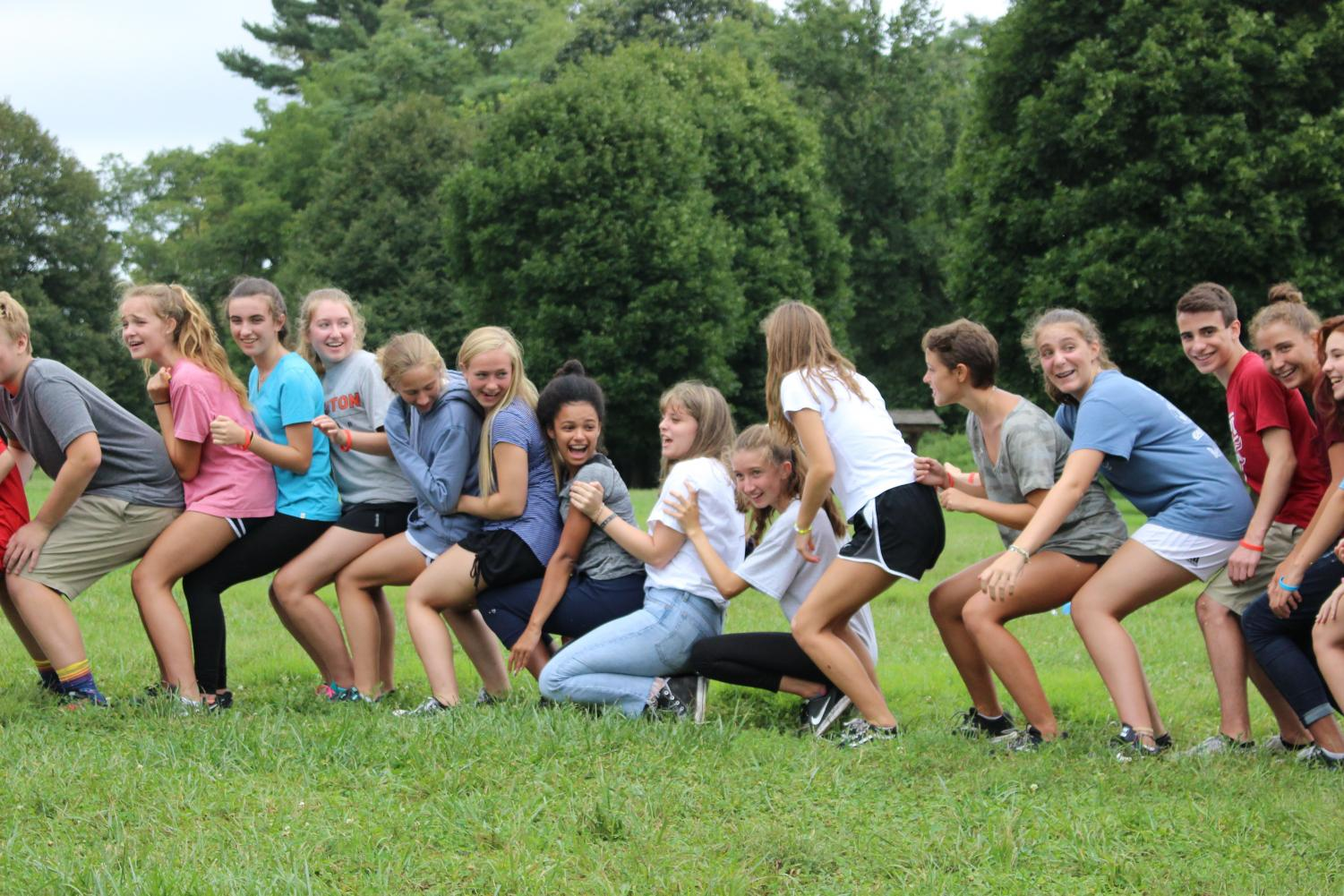 The Class of 2022 bonded through a variety of games and activities on Friday.