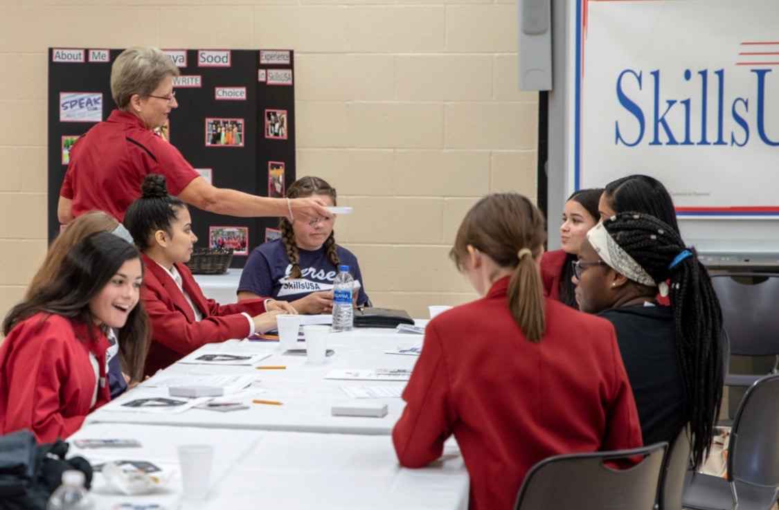 SkillsUSA chapters from across the state met at Mercer County Tech School for the Central Regional Leadership Conference.