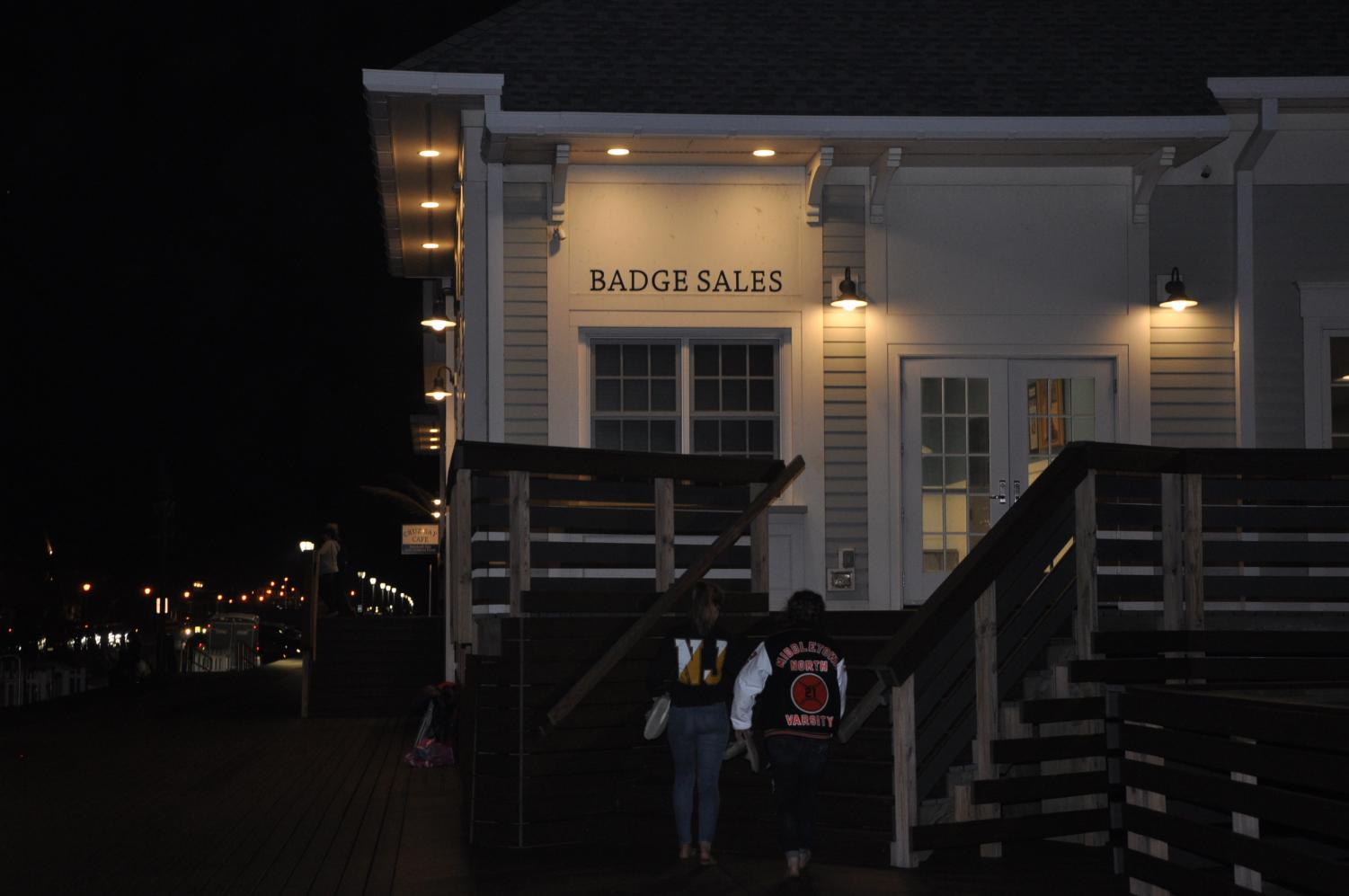 The event was held both inside the Belmar Pavilion and outside on the beach.