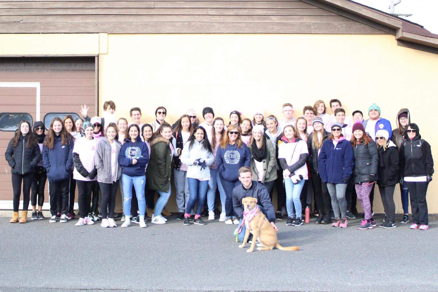 The National Honor Society brought 45 CHS team members to the Point Pleasant Beach Making Strides Against Breast Cancer Walk on Sunday, Oct. 21.