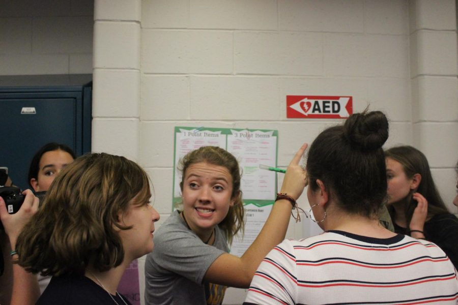 Friday's event was CHS's first ever Super Scav. Sophomore Faith Williams of Eatontown directs the sophomore class in finding items.