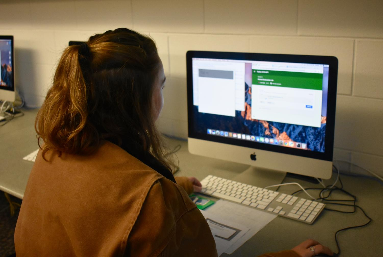 Sophomore Erin Carr of Wall submits her code for Intro to Programming on Google Classroom.